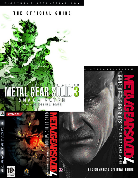 Metal Gear Solid 3+4 guides + MGS4 Game!