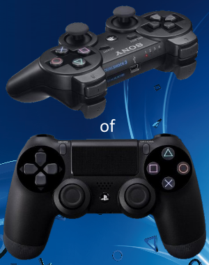 een PS3 of PS4 Controller